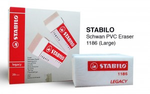 STABILO LEGACY ERASER  MODEL NO: 1186 PRICE: $0.55/PC NOTE: PLEASE NOTE THAT IMAGE SHOWN ARE FOR ILLUSTRATION PURPOSE ONLY.