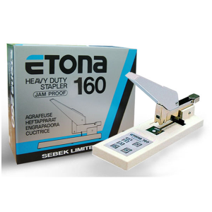 ETONA HEAVY DUTY STAPLER MODEL NO:E160 PRICE:$72.00/PC NOTE: PLEASE NOTE THAT IMAGE SHOWN ARE FOR ILLUSTRATION PURPOSE ONLY. ***PRICES ARE SUBJECT TO CHANGE WITHOUT PRIOR NOTICE***
