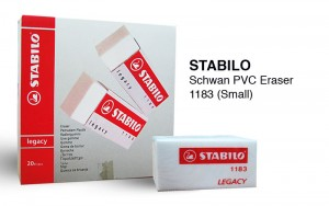 STABILO LEGACY ERASER (SMALL) MODEL NO: 1183 PRICE: $0.20/PC NOTE: PLEASE NOTE THAT IMAGE SHOWN ARE FOR ILLUSTRATION PURPOSE ONLY.