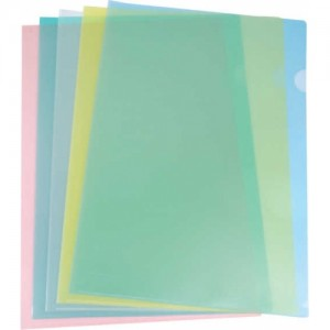 L SHAPE FOLDER MODEL : ASSORTED COLOURS (A4/FS) PASTEL (A4) CLEAR (A4/FS)
