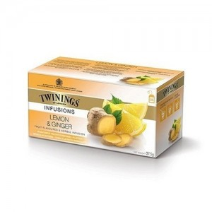 TWININGS LEMON AND GINGER TEA                                                  PRICE:PLEASE ENQUIRE NOTE: PLEASE NOTE THAT IMAGE SHOWN ARE FOR ILLUSTRATION PURPOSE ONLY. ***PRICES ARE SUBJECT TO CHANGE WITHOUT PRIOR NOTICE***