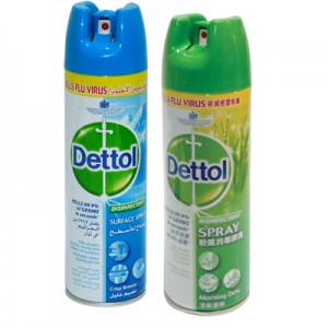 DETTOL DISINFECTANT SPRAY                                                  PRICE:PLEASE ENQUIRE NOTE: PLEASE NOTE THAT IMAGE SHOWN ARE FOR ILLUSTRATION PURPOSE ONLY. ***PRICES ARE SUBJECT TO CHANGE WITHOUT PRIOR NOTICE***
