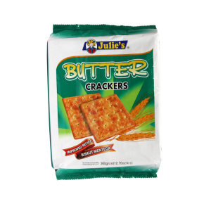 JULIE'S BUTTER CRACKERS                                                  PRICE:PLEASE ENQUIRE NOTE: PLEASE NOTE THAT IMAGE SHOWN ARE FOR ILLUSTRATION PURPOSE ONLY. ***PRICES ARE SUBJECT TO CHANGE WITHOUT PRIOR NOTICE***