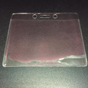 STATIONERY SOFT CLEAR CARD CASE (H) SPECS: LIGHT THIN MATERIAL TRANSPARENT MODEL: - SIZE: (107X 75 mm)